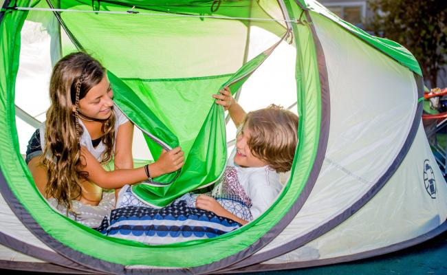 camping in tents with children