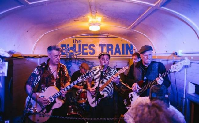 Live music and dancing aboard The Blues Train.